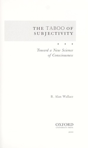 Download The taboo of subjectivity