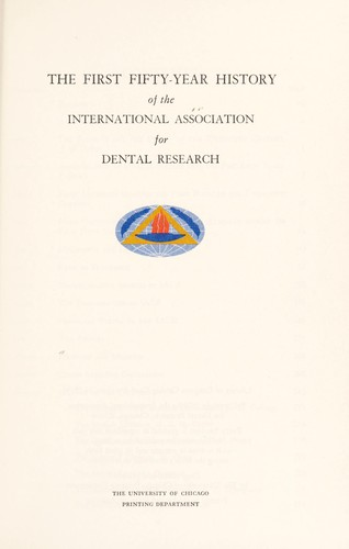 Download The first fifty-year history of the International Association for Dental Research.