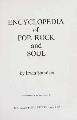 Encyclopedia of pop, rock and soul