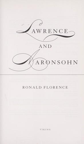 Lawrence and Aaronsohn