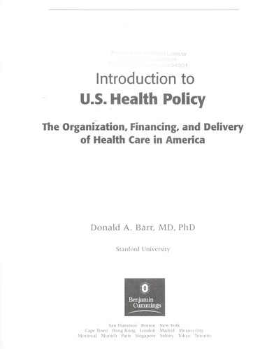 Download Introduction to U.S. health policy