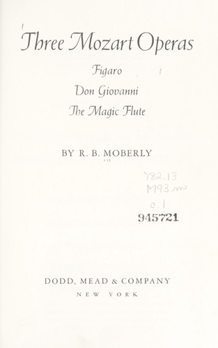 Three Mozart operas