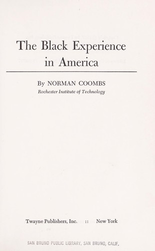 Download The Black experience in America