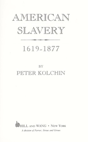 Download American slavery, 1619-1877