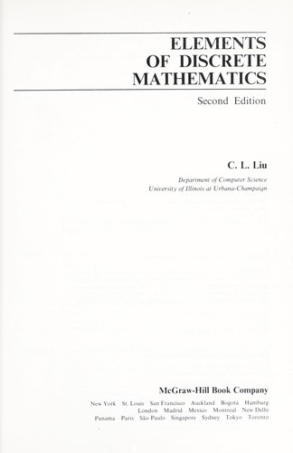 Elementsof discrete mathematics.