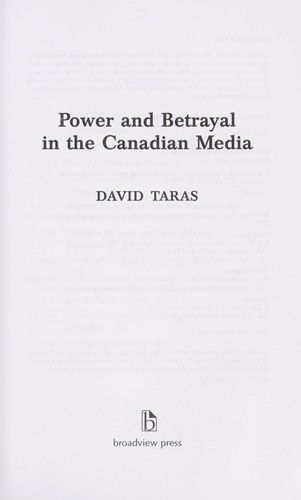 Download Power and betrayal in the Canadian media
