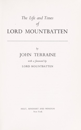 Download The life and times of Lord Mountbatten