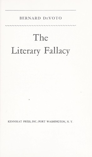 Download The literary fallacy.