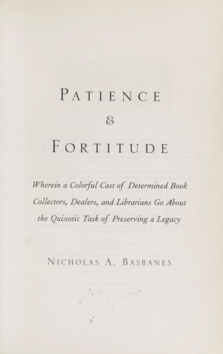 Download Patience & fortitude