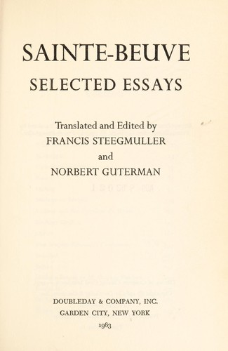 Selected essays.