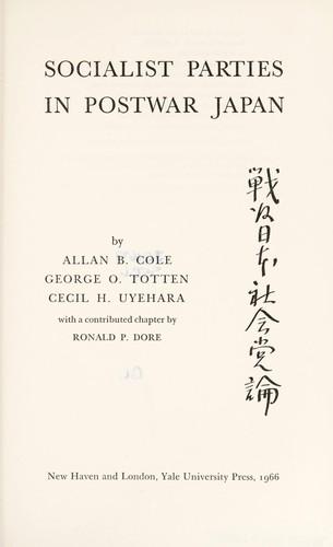 Download Socialist parties in postwar Japan