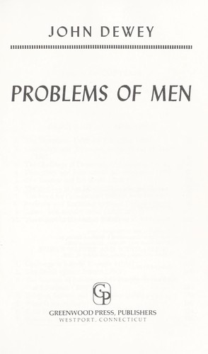 Download Problems of Men