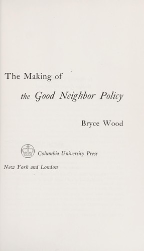 Download The making of the good neighbor policy.