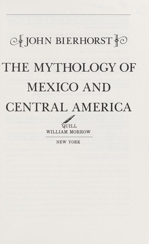 Download The mythology of Mexico and Central America