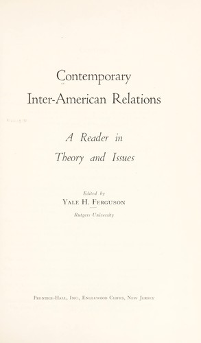 Download Contemporary inter-American relations