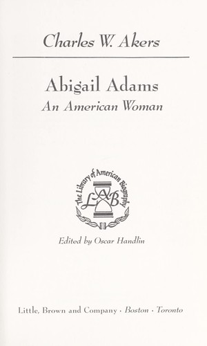 Abigail Adams, an American woman