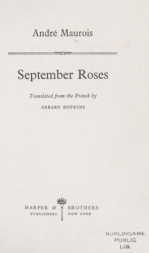 September roses.