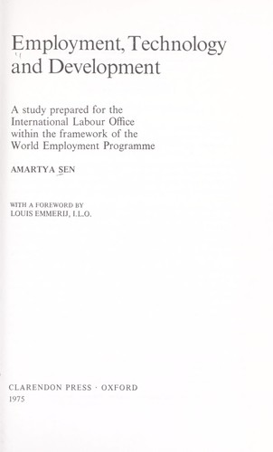 Download Employment, technology and development