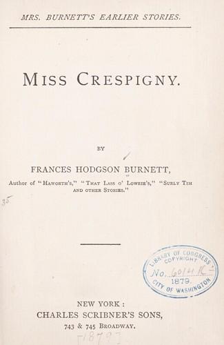 Miss Crespigny.