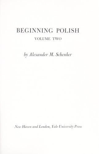 Download Beginning Polish