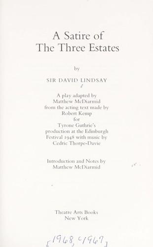 A satire of the three estates.