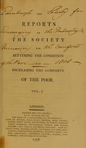 Download The reports of the Society for Bettering the Condition and Increasing the Comforts of the Poor.