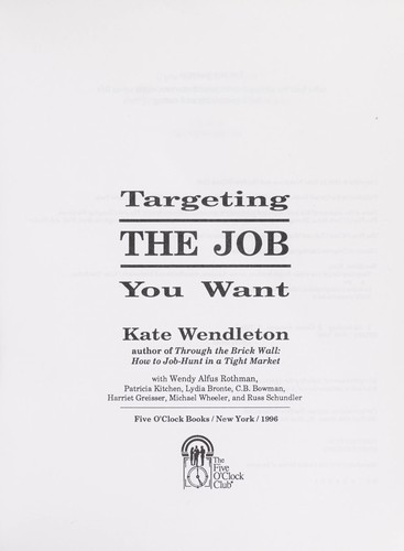 Download Targeting the Job You Want