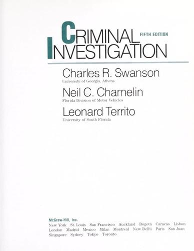 Download Criminal investigation