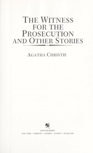 Witness for the Prosecution (The Agatha Christie Mystery Collection)