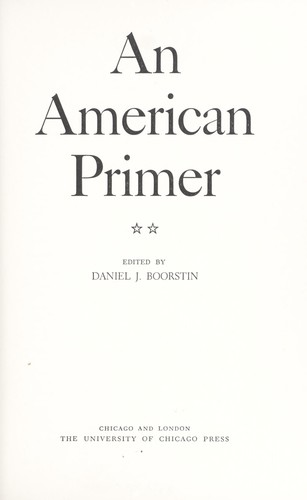 Download An American primer