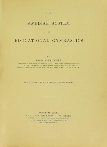 The Swedish system of educational gymnastics.