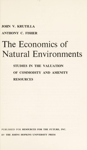 Download The economics of natural environments