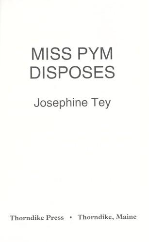 Download Miss Pym disposes