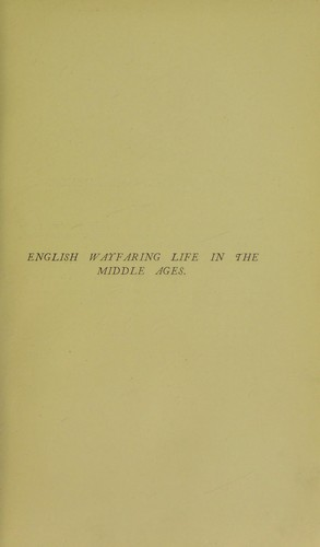 Download English wayfaring life in the middle ages