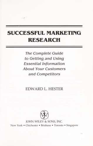 Successful marketing research