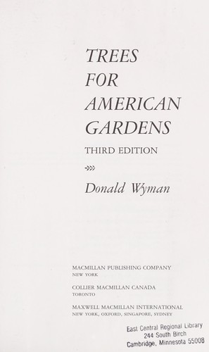 Trees for American gardens