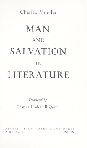 Download Man and salvation in literature.