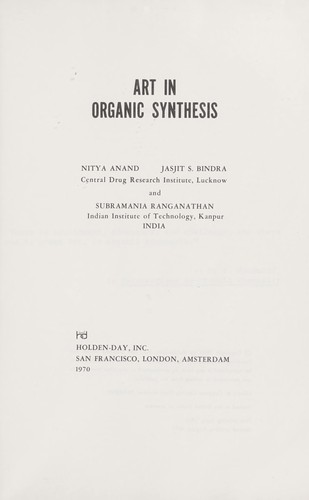 Download Art in organic synthesis