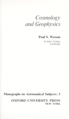 Download Cosmology and geophysics