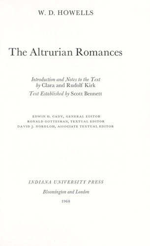 The Altrurian romances.