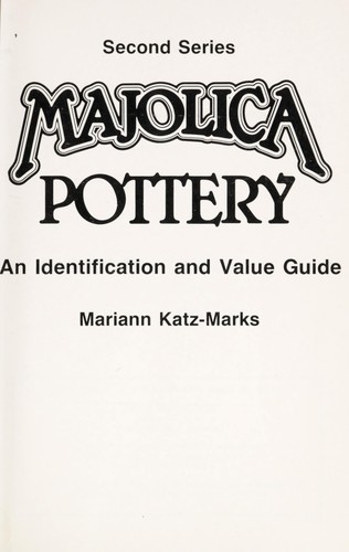 Download Majolica pottery.
