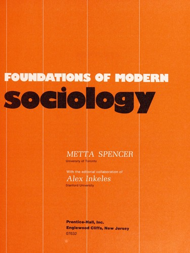 Download Foundations of modern sociology