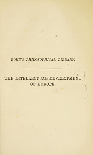 History of the intellectual development of Europe.