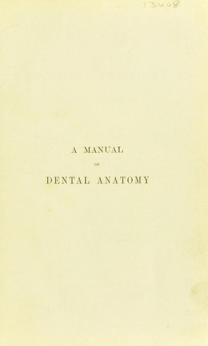 Download A manual of dental anatomy