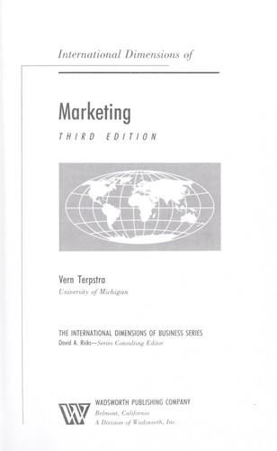International dimensions of marketing