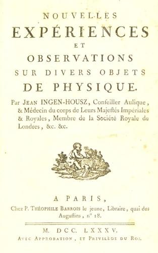 Download Nouvelles expériences et observations sur divers objets de physique