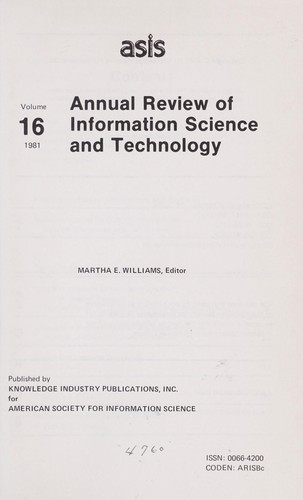 Annual Review of Information Science and Technology