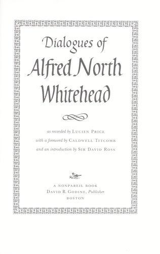 Download Dialogues of Alfred North Whitehead