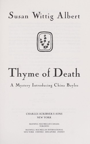Download Thyme of death