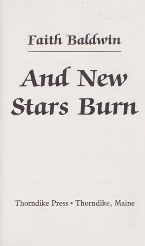 And New Stars Burn